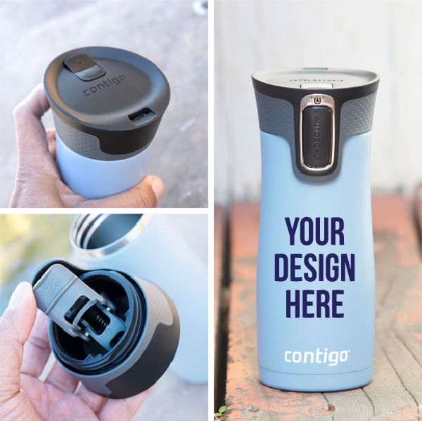 Put your design on a vacuum sealed stainless water bottle.