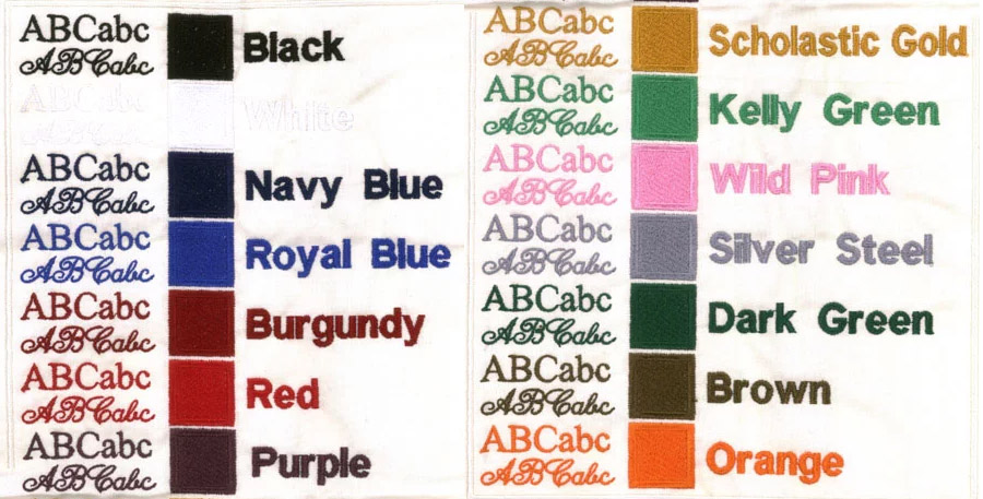 Standard embroidery colors are just the beginning.