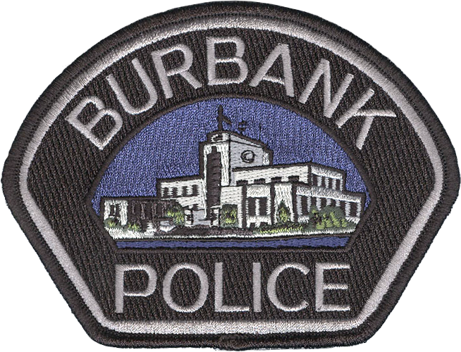 Embroidered patch with Burbank Police logo - prop for television show