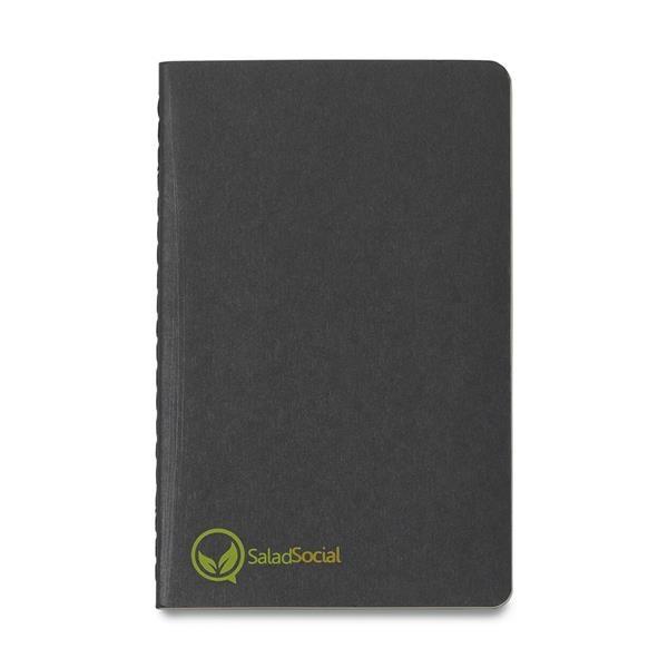 Moleskin notebook with custom logo
